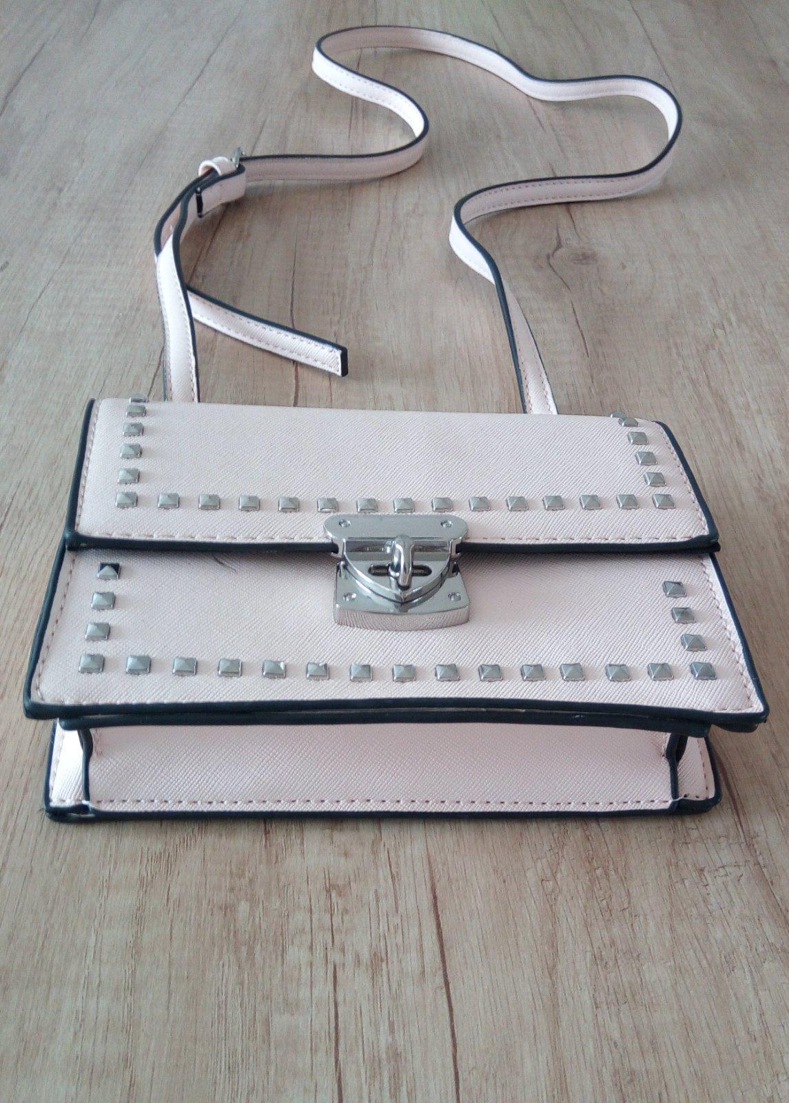 Malá bledoružová kabelka - Obrázok č. 2