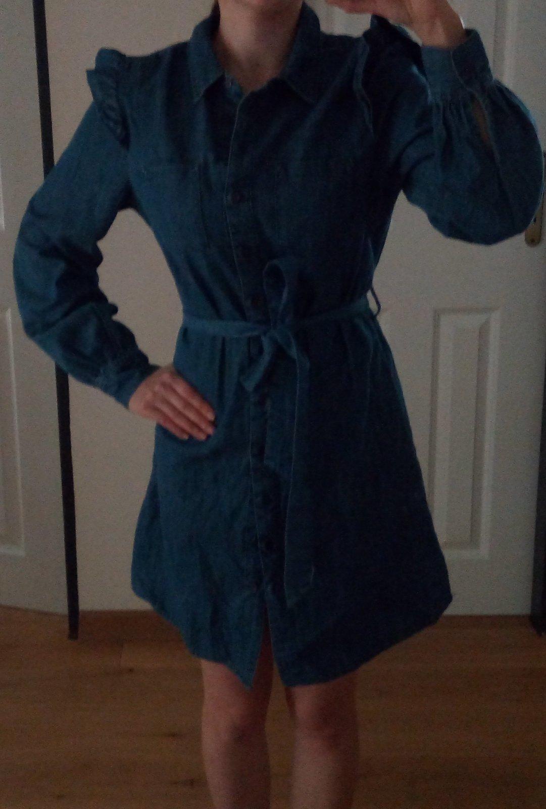Džínsové/rifľové šaty F&F, S - Obrázok č. 1