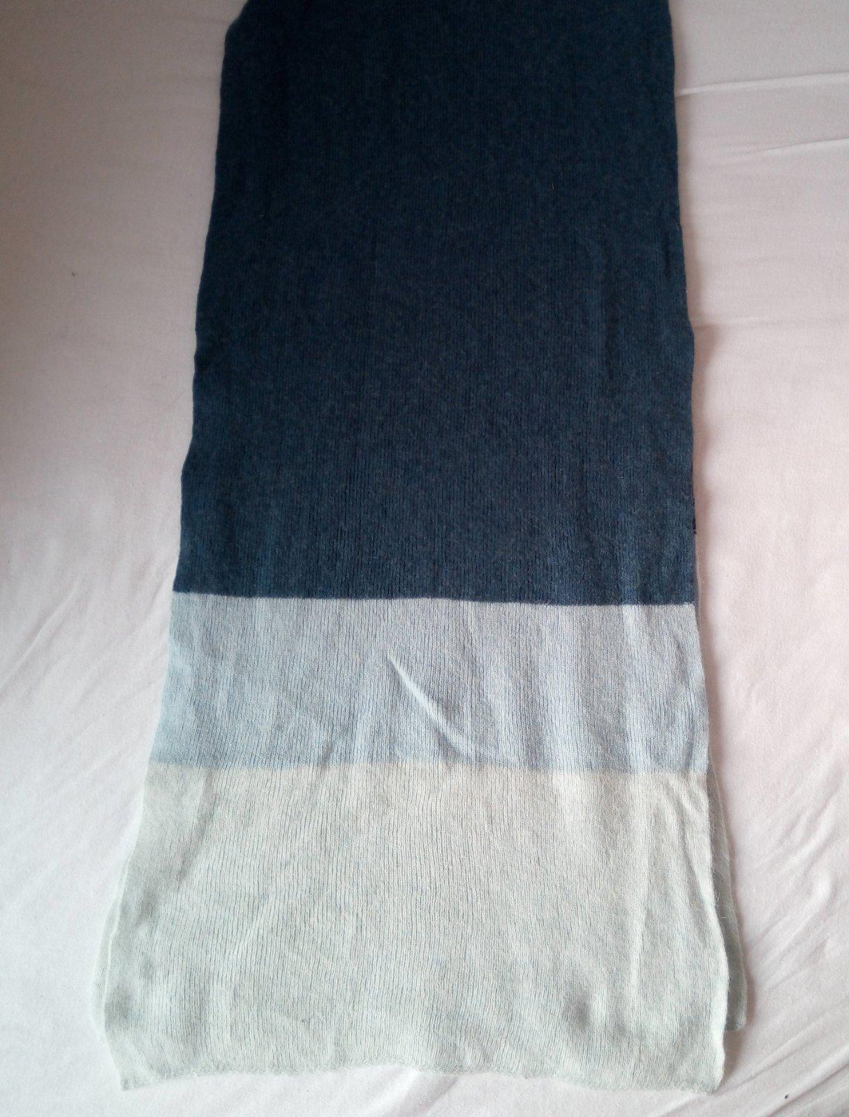 Dlhý modrý vlnený šál - Obrázok č. 1