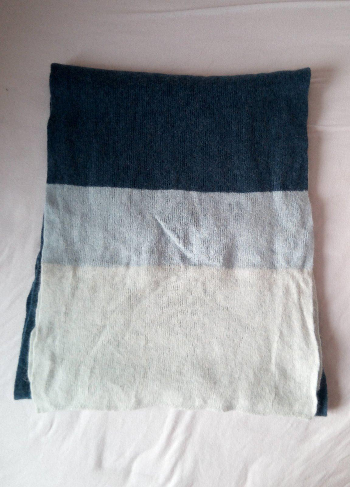 Dlhý modrý vlnený šál - Obrázok č. 2