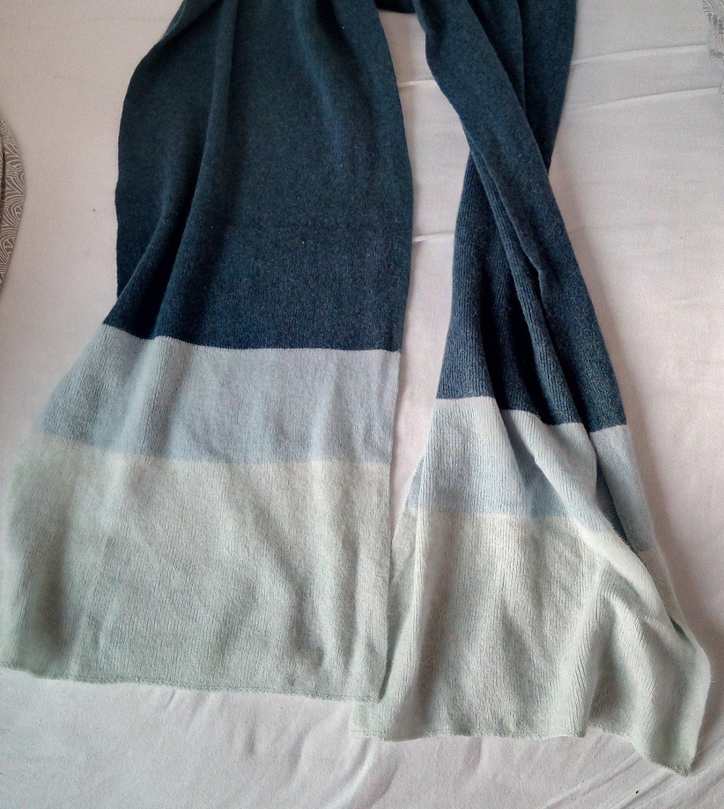 Dlhý modrý vlnený šál - Obrázok č. 3