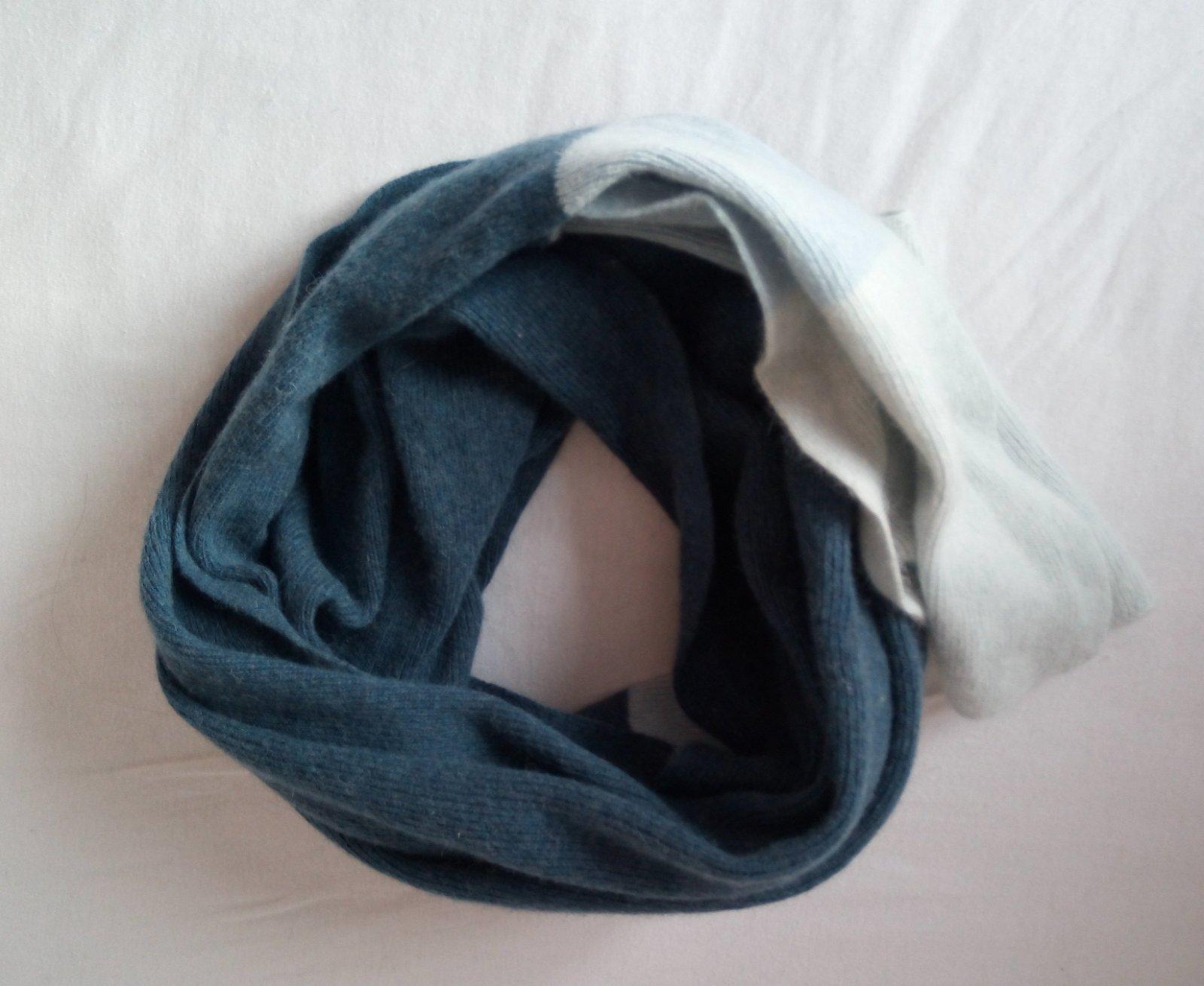 Dlhý modrý vlnený šál - Obrázok č. 4