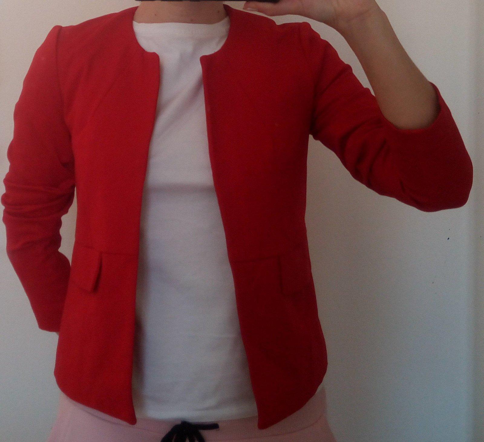 Červené dámske sako - Obrázok č. 1