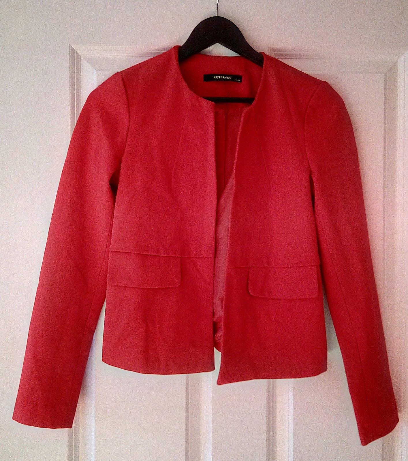 Červené dámske sako - Obrázok č. 2