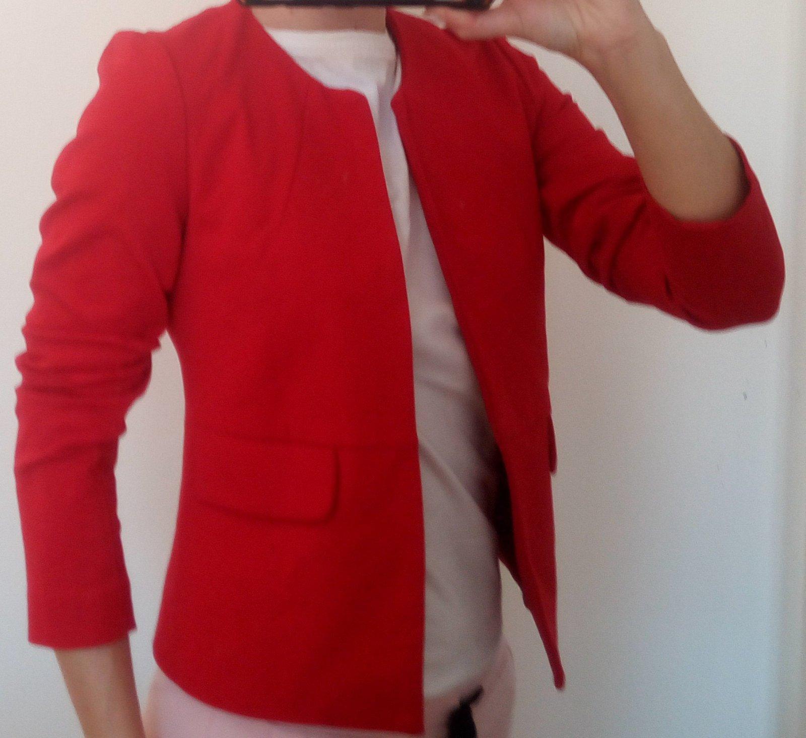 Červené dámske sako - Obrázok č. 4
