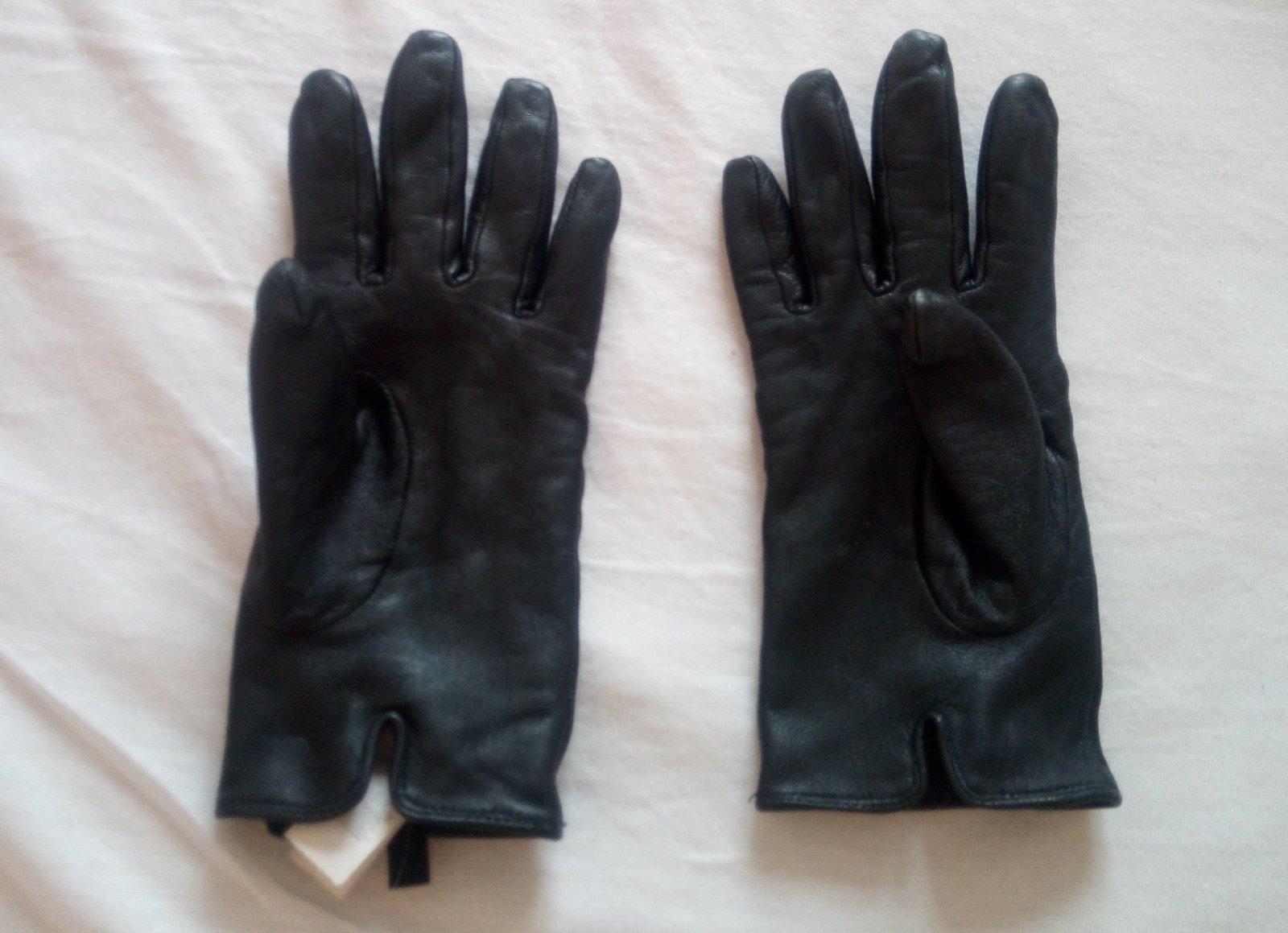 Čierne kožené rukavice - Obrázok č. 3