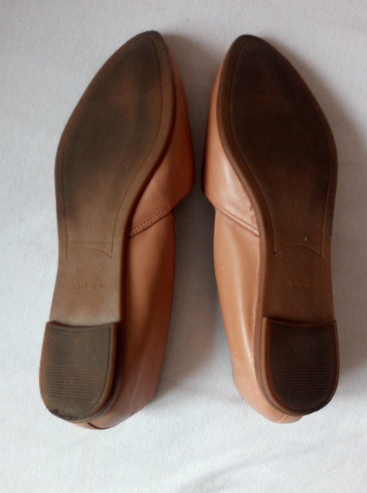 Bledohnedé kožené minimalistické baleríny - Obrázok č. 3