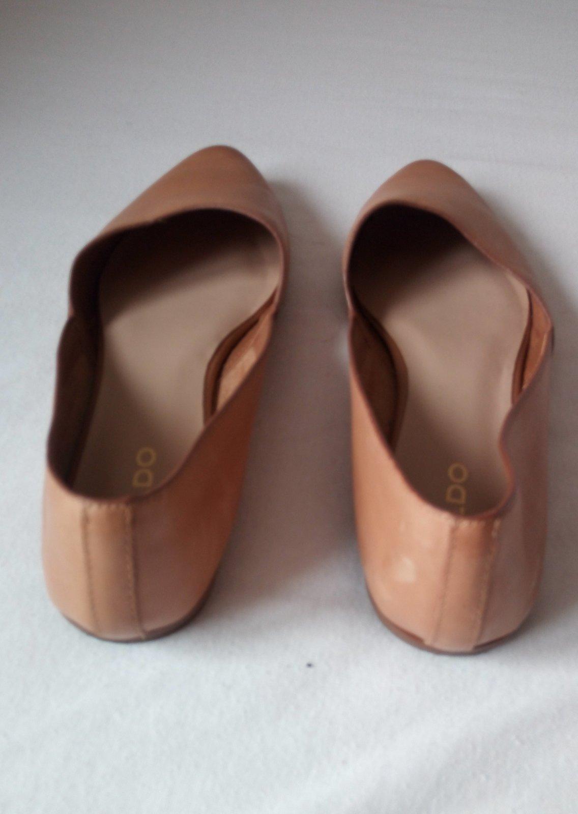 Bledohnedé kožené minimalistické baleríny - Obrázok č. 4