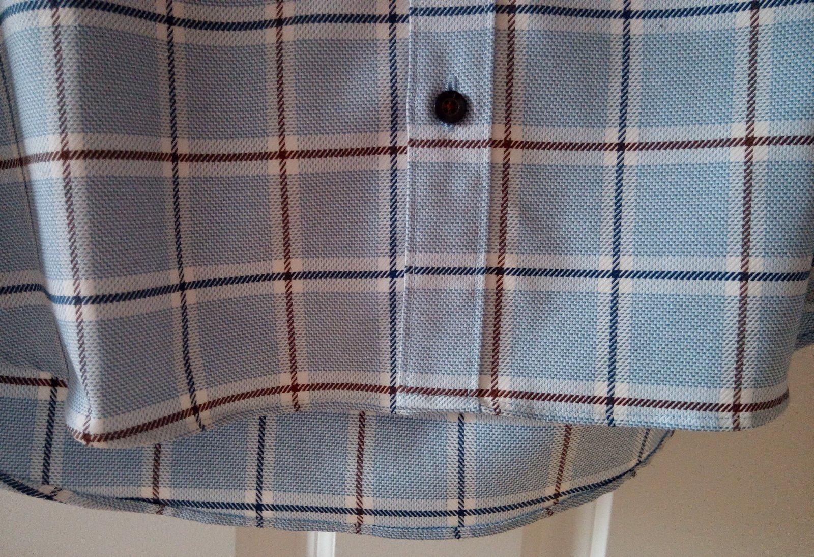 Pánska modrá károvaná košeľa 39 - Obrázok č. 3