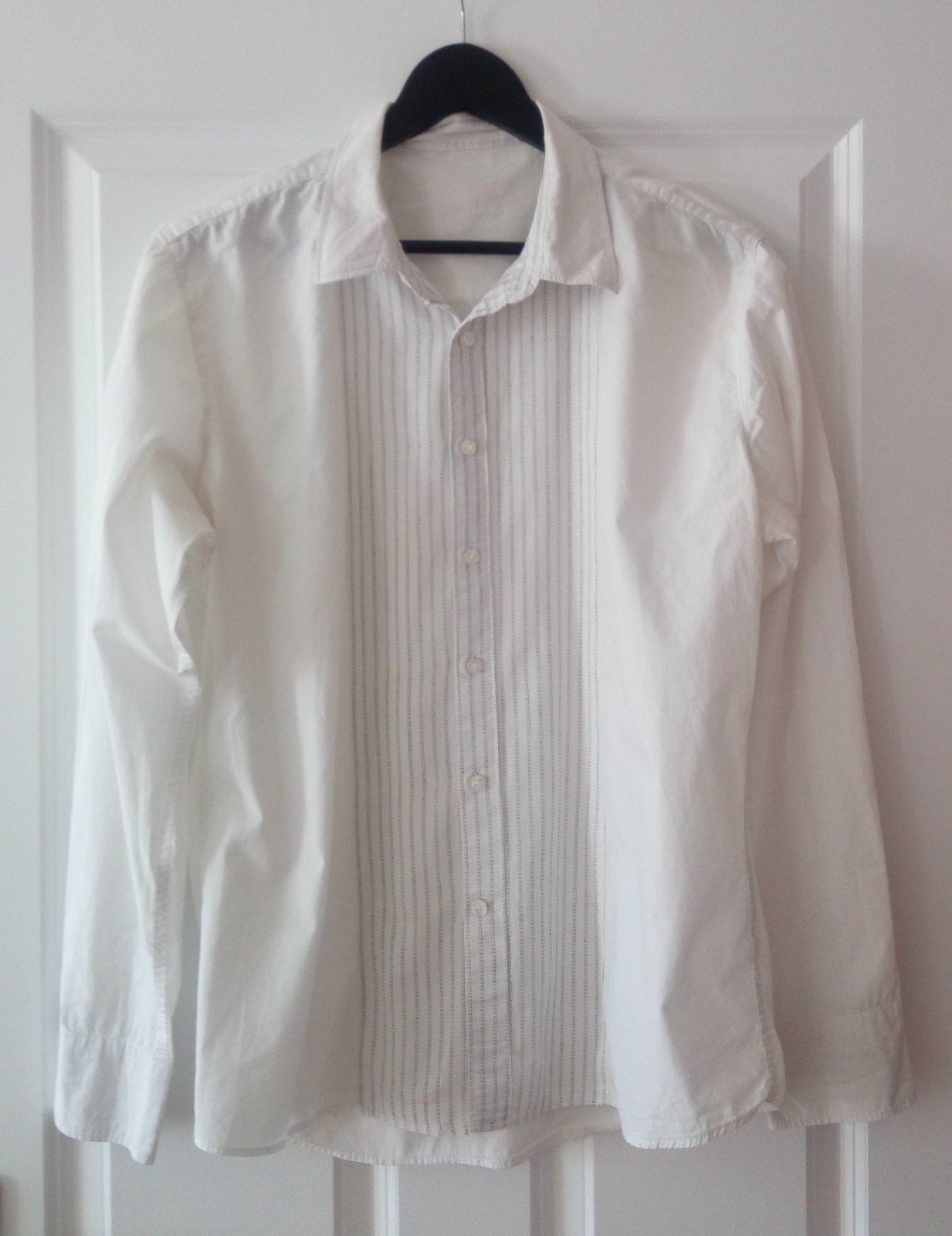 Biela pánska košeľa M, ponožky - Obrázok č. 1
