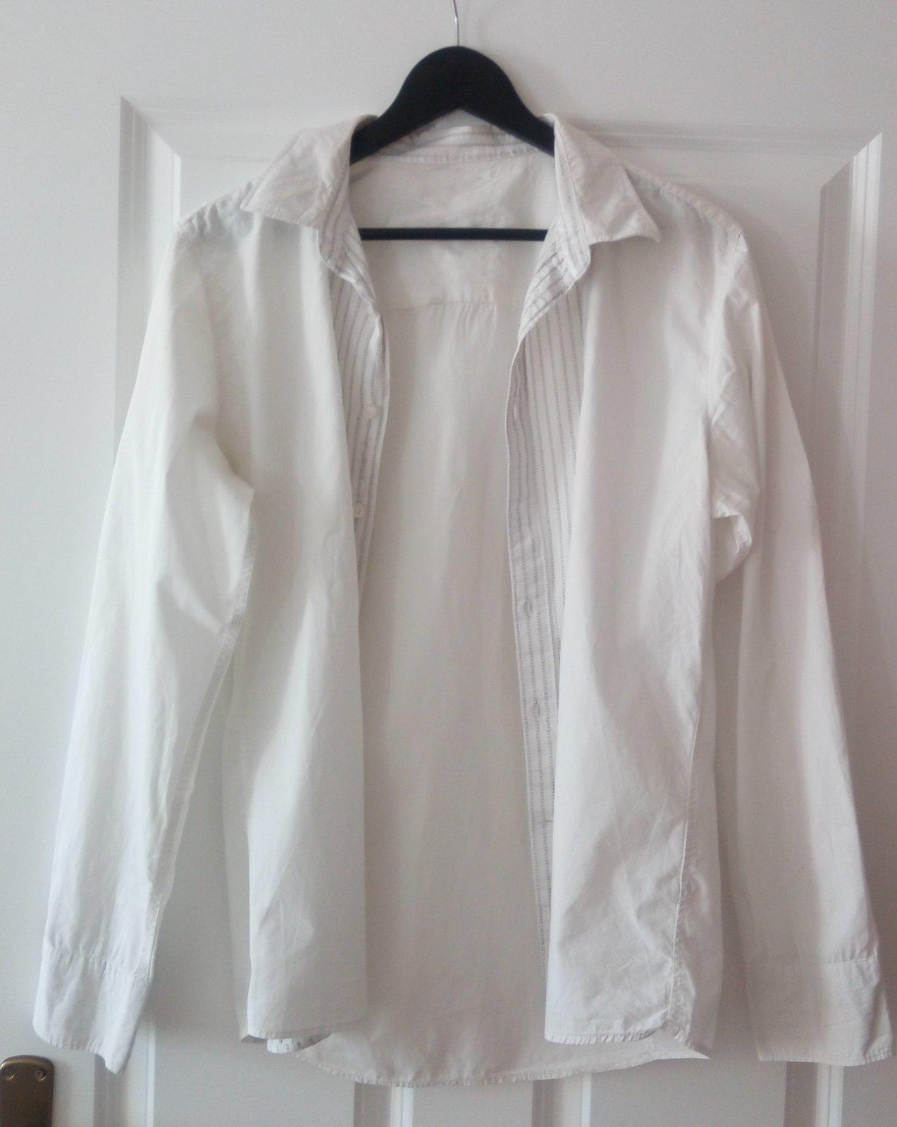 Biela pánska košeľa M, ponožky - Obrázok č. 3