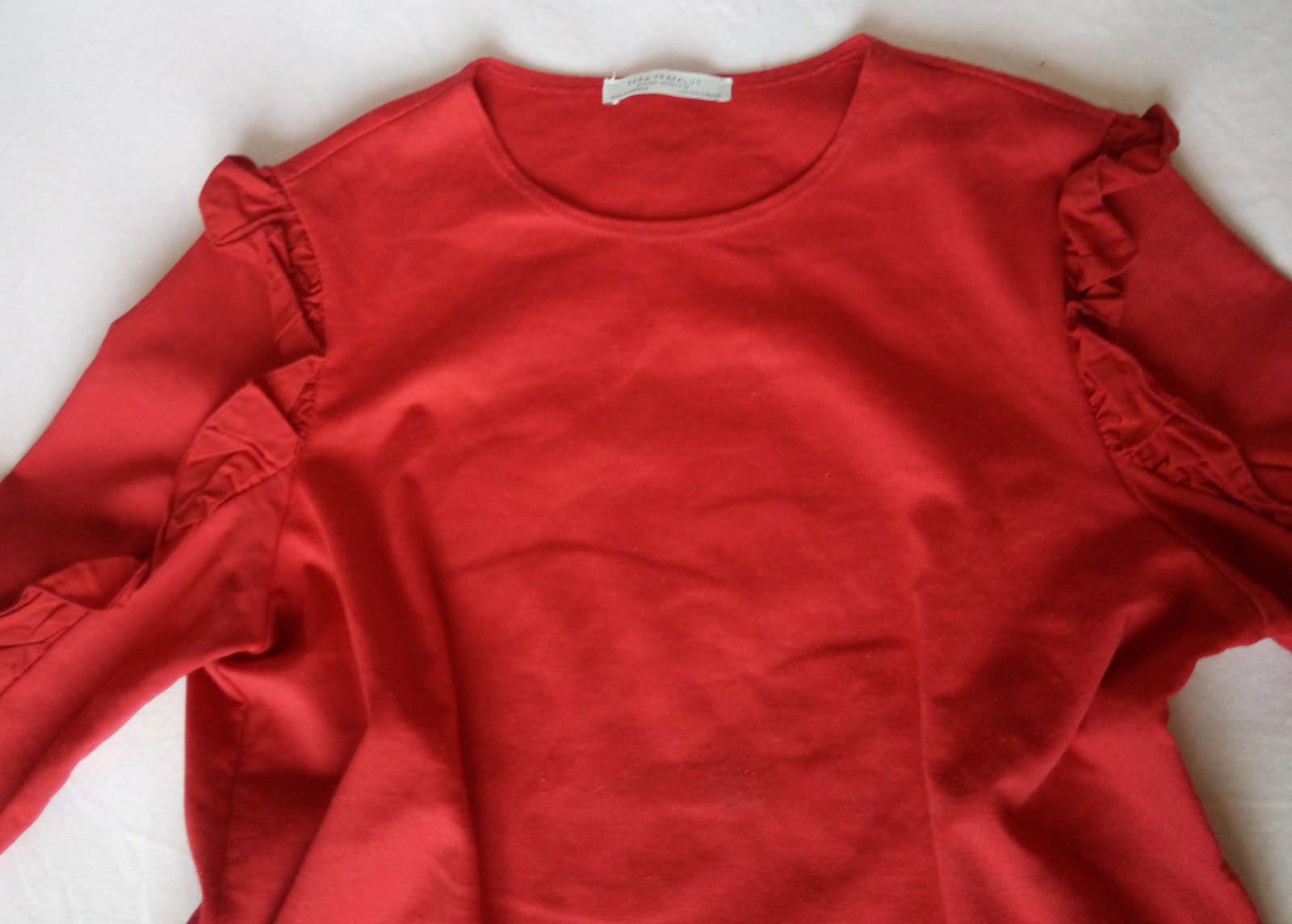 Červené tričko Zara S - Obrázok č. 3