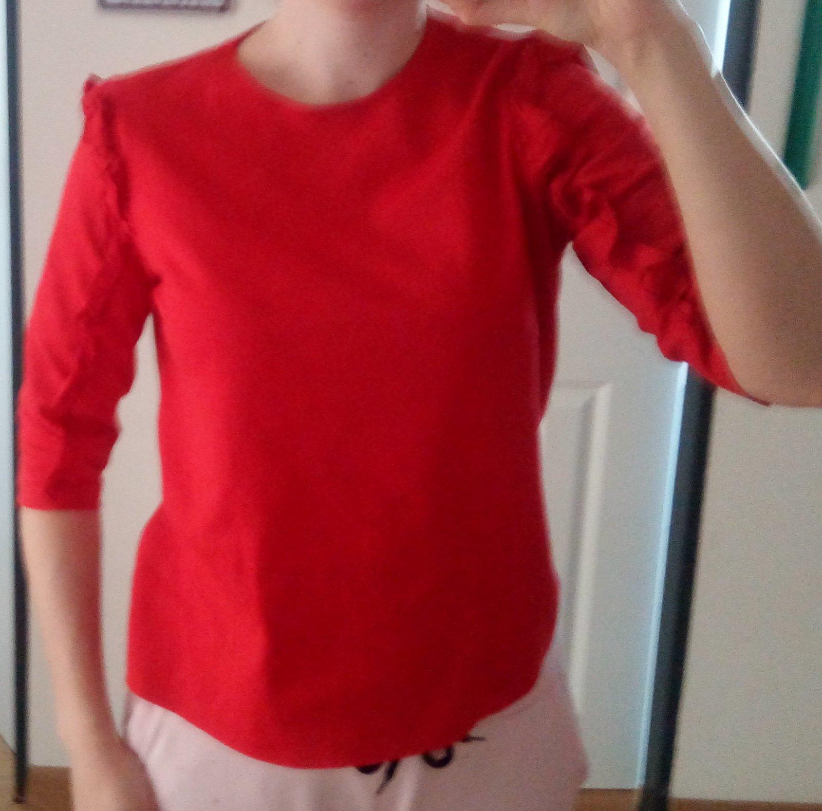 Červené tričko Zara S - Obrázok č. 1
