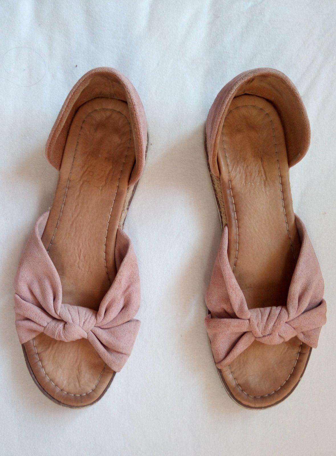 Bledoružové sandálky 38 - Obrázok č. 1