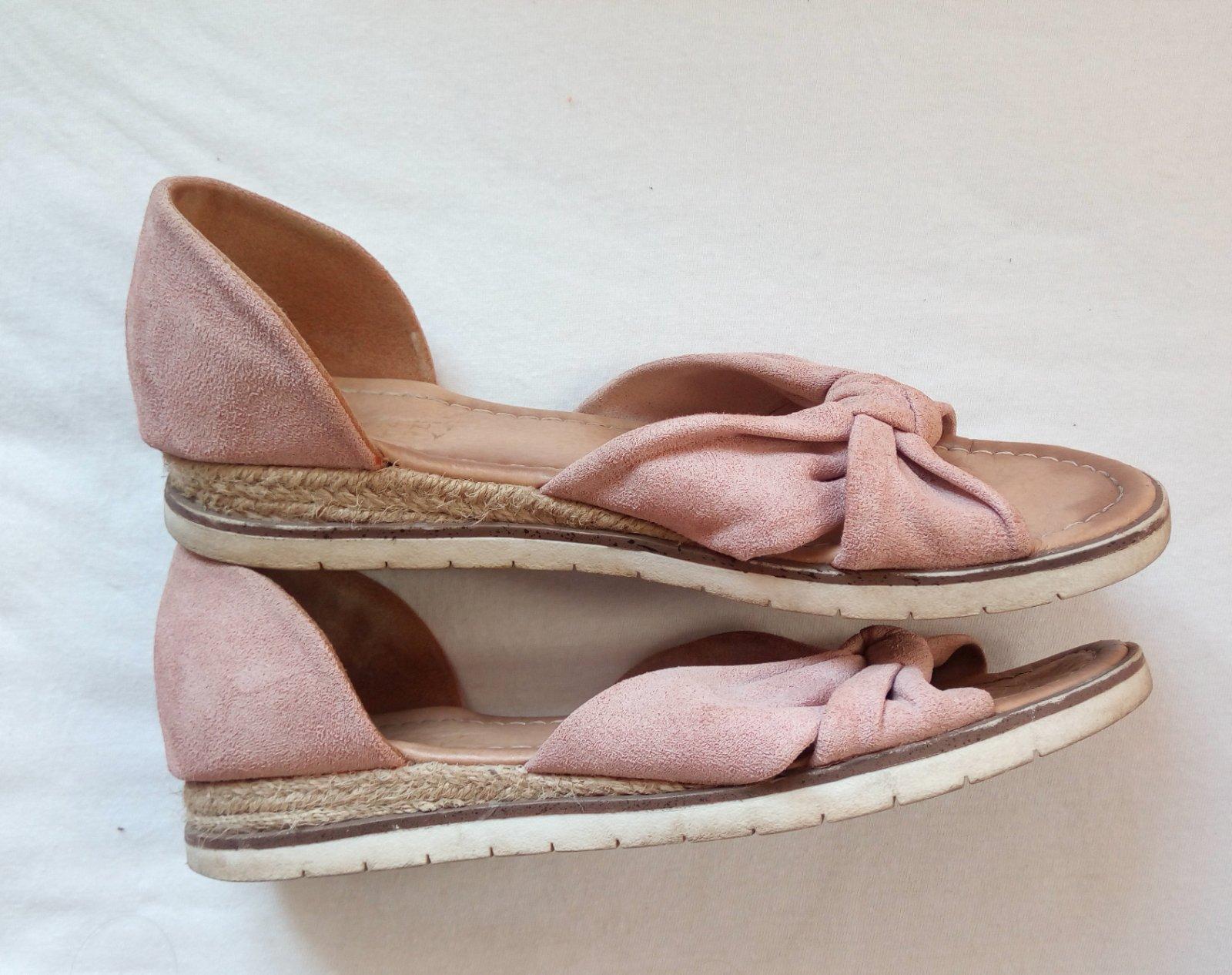 Bledoružové sandálky 38 - Obrázok č. 2