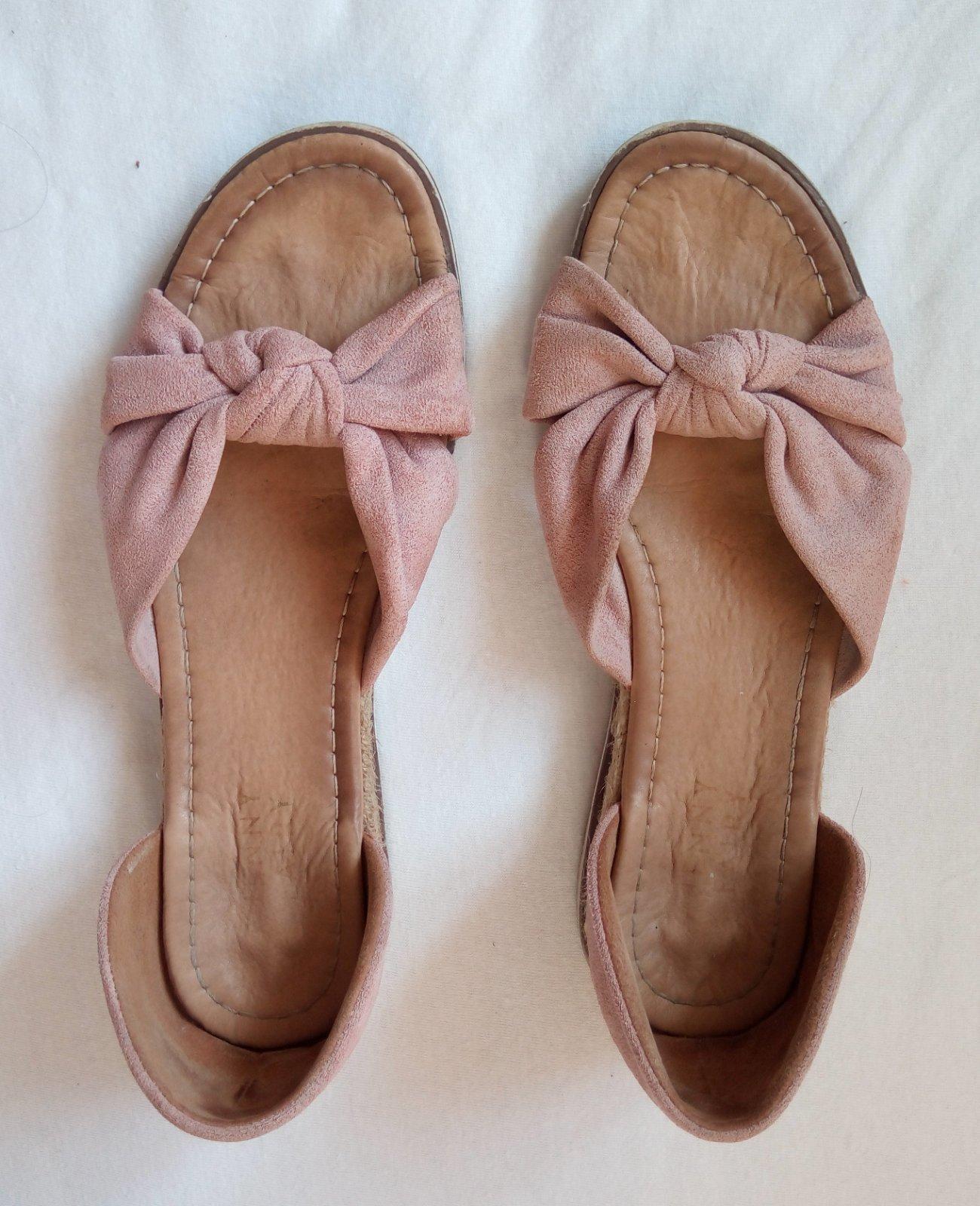 Bledoružové sandálky 38 - Obrázok č. 3