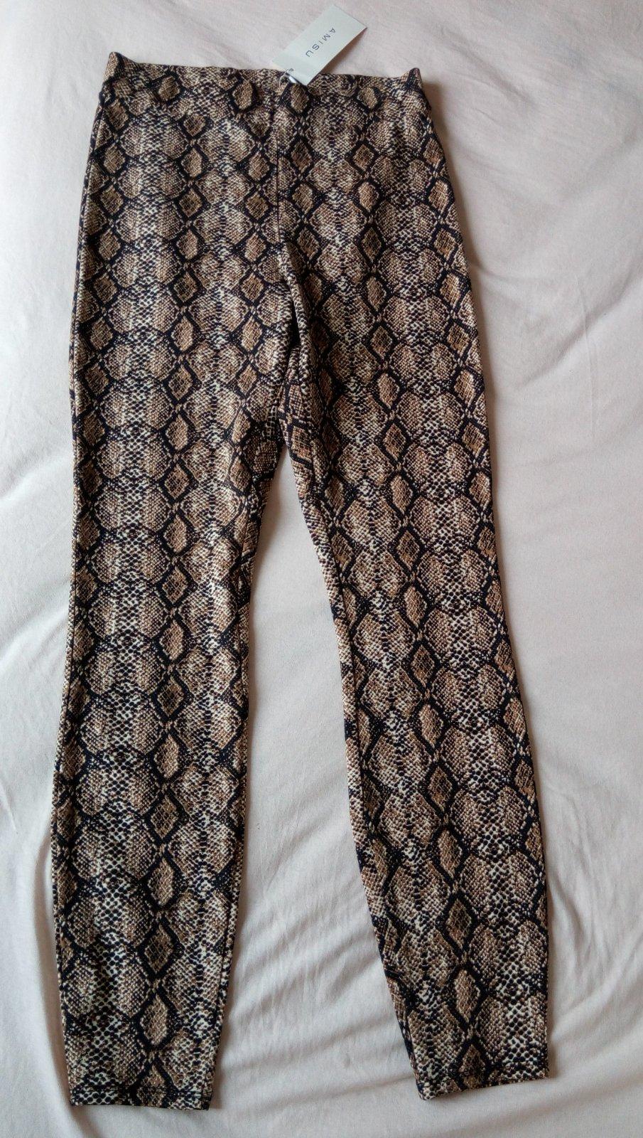 Hnedé hadie legínové nohavice Amisu S - Obrázok č. 1