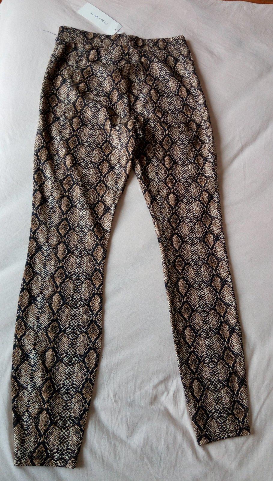 Hnedé hadie legínové nohavice Amisu S - Obrázok č. 2