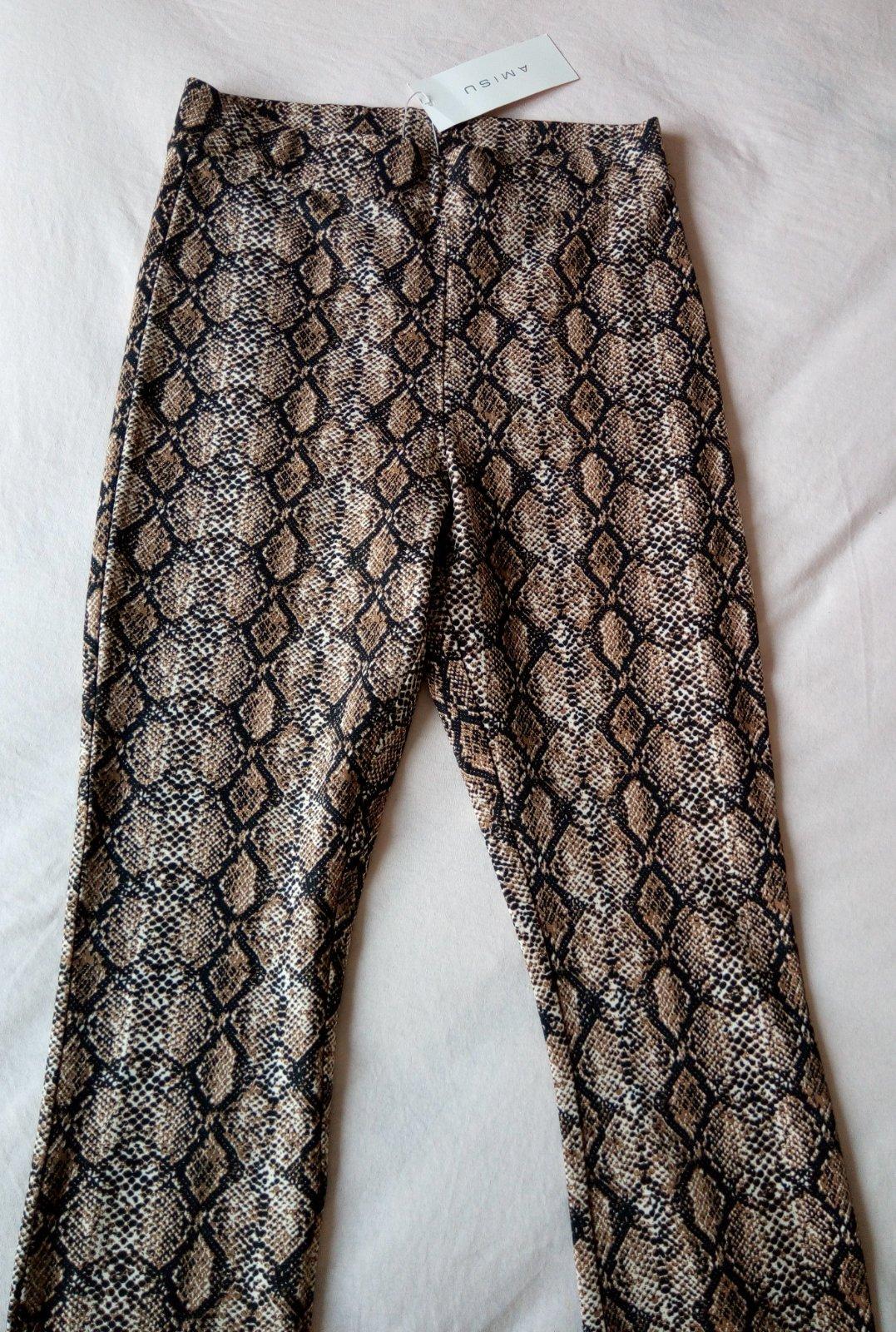 Hnedé hadie legínové nohavice Amisu S - Obrázok č. 3