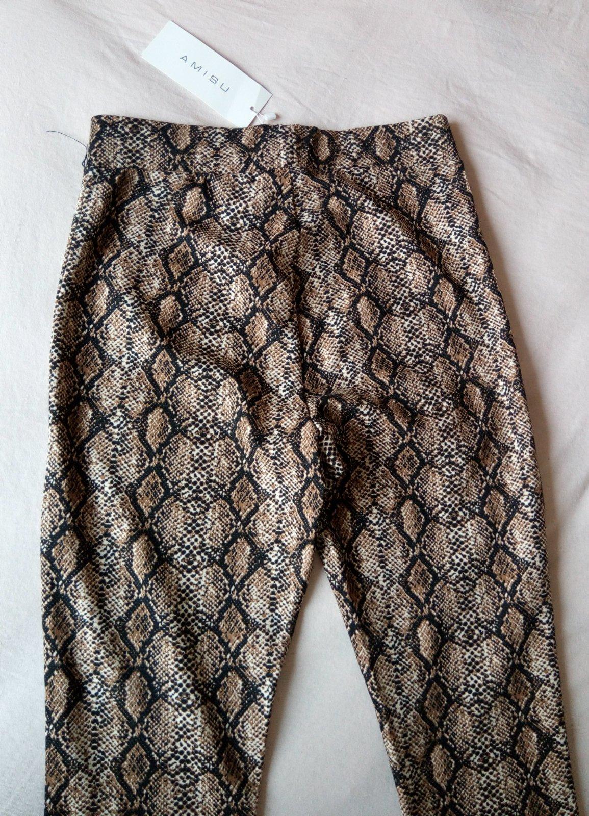Hnedé hadie legínové nohavice Amisu S - Obrázok č. 4