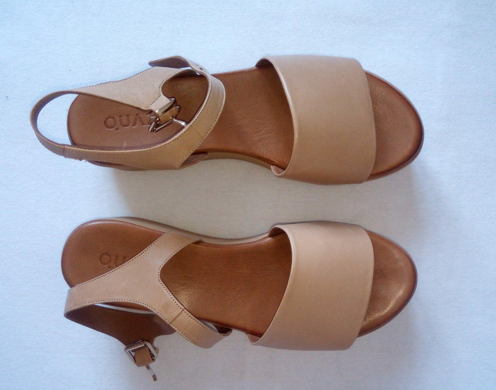 Béžové kožené sandále 38 - Obrázok č. 1