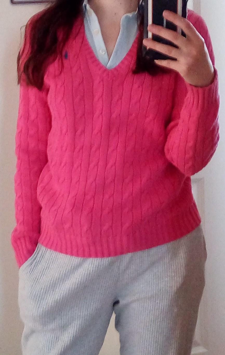 Ružový sveter Ralph Lauren S - Obrázok č. 1