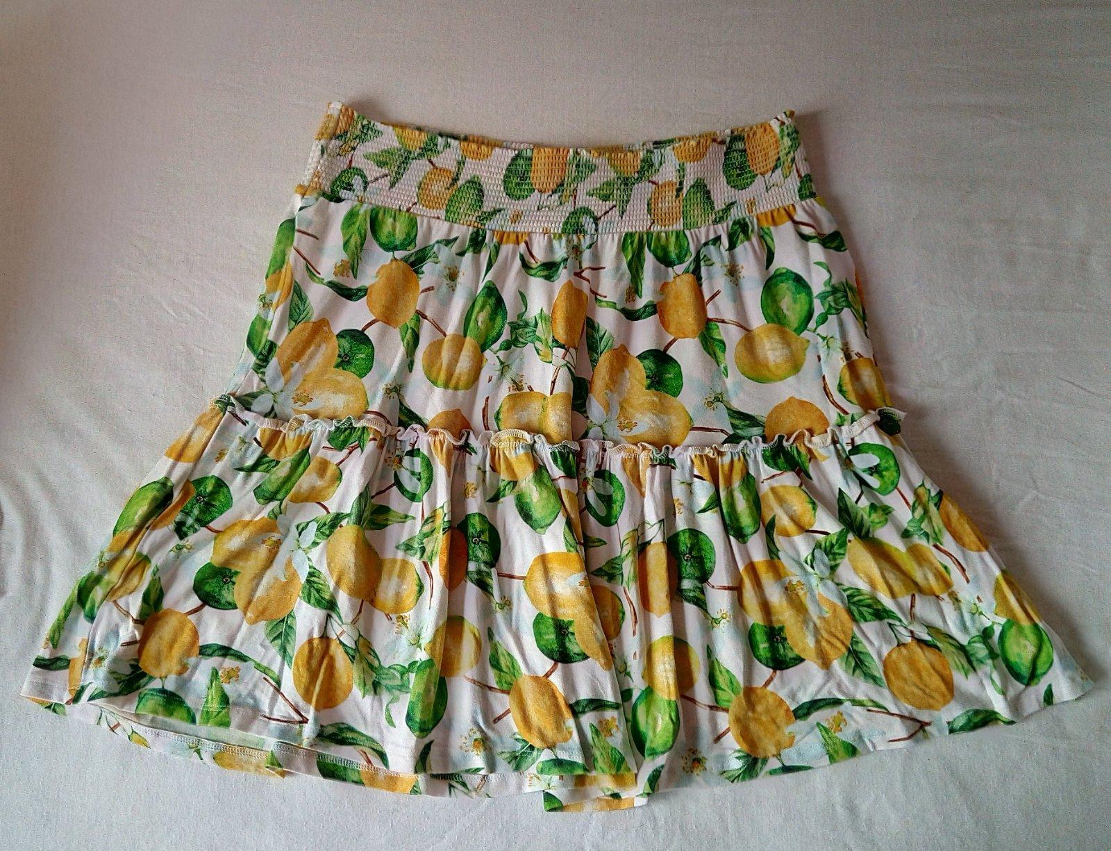 Vzorovaná sukňa s citrónmi Cubus L - Obrázok č. 1