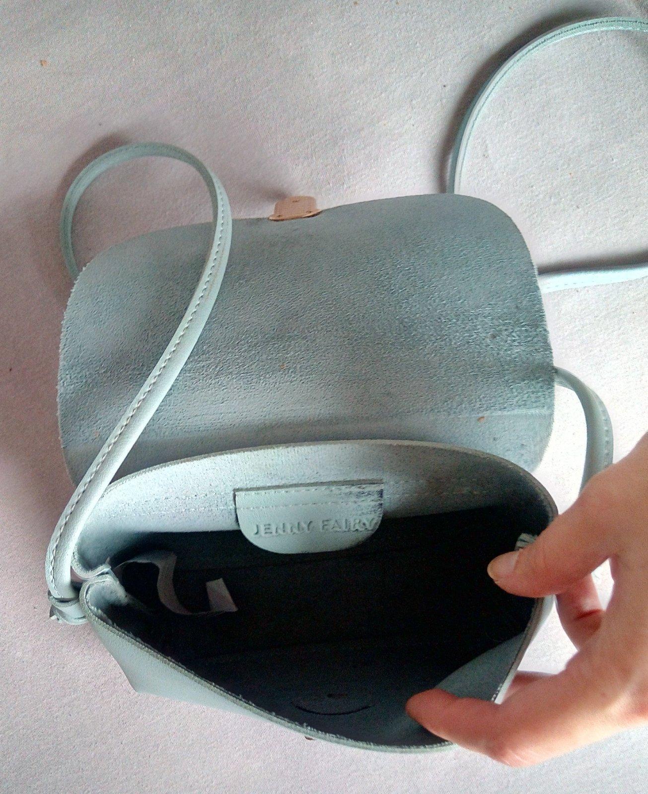 Bledomodrá malá crossbody kabelka - Obrázok č. 3