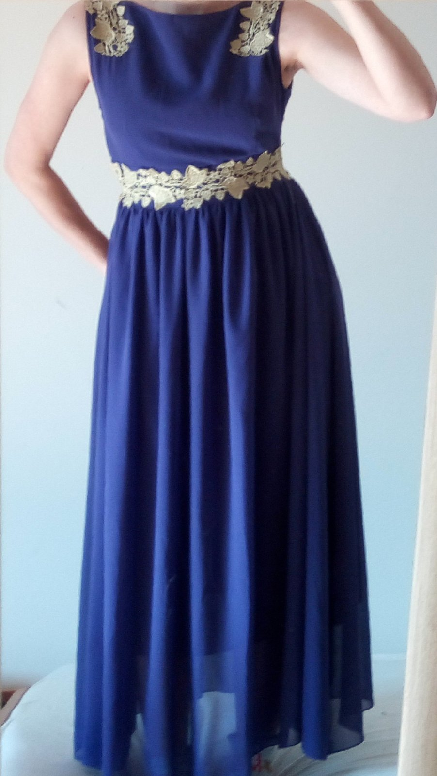 Dlhé fialové spoločenské šaty XS/S - Obrázok č. 1