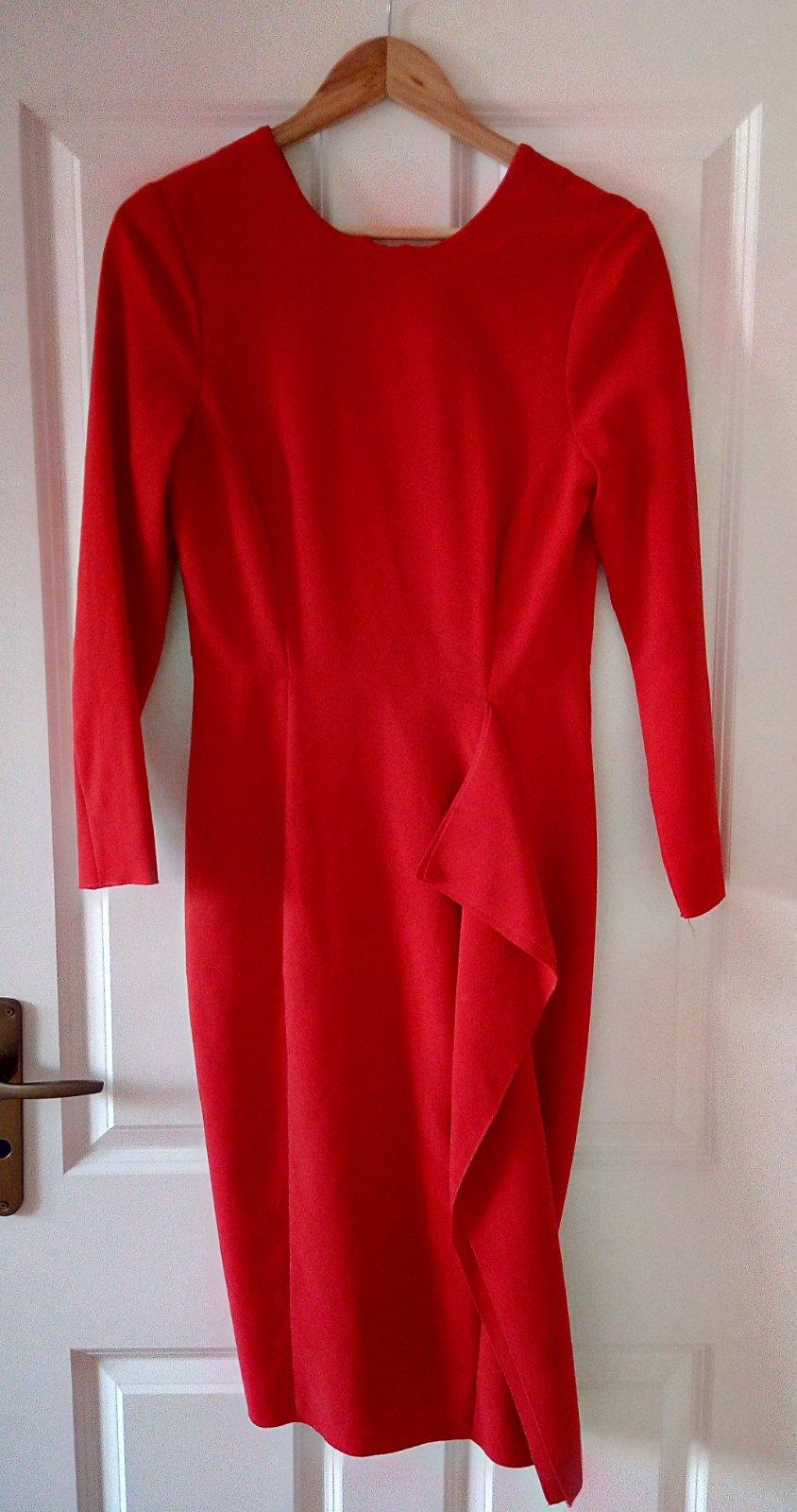 Červené šaty H&M, M - Obrázok č. 1