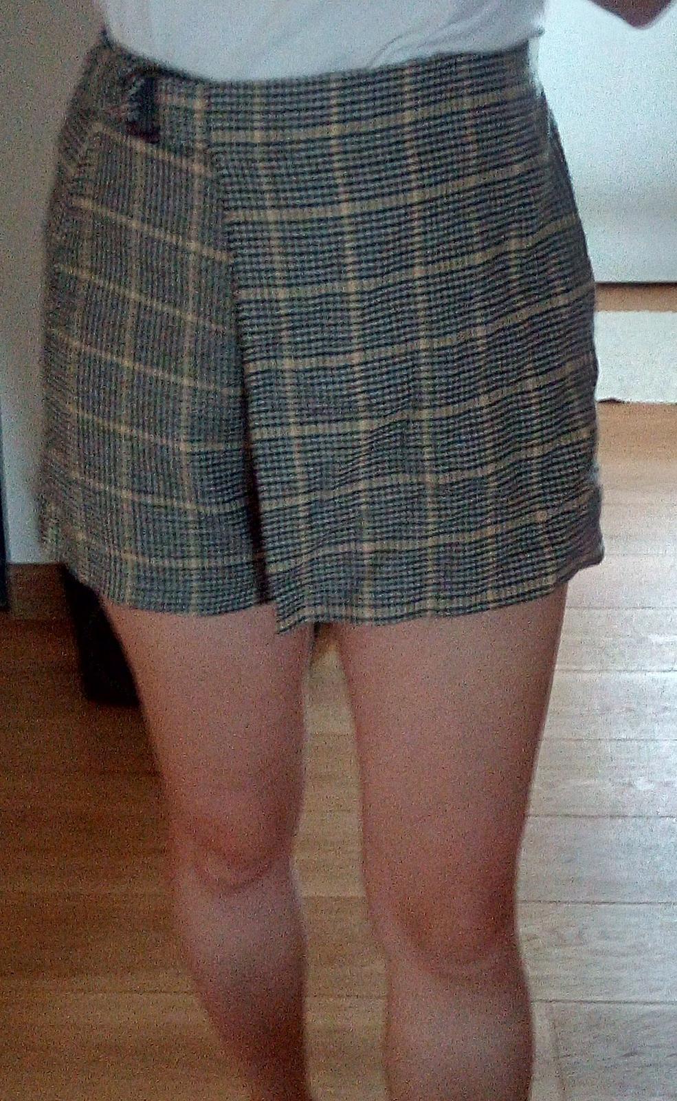 Kárované sukňošortky Terranova S - Obrázok č. 1