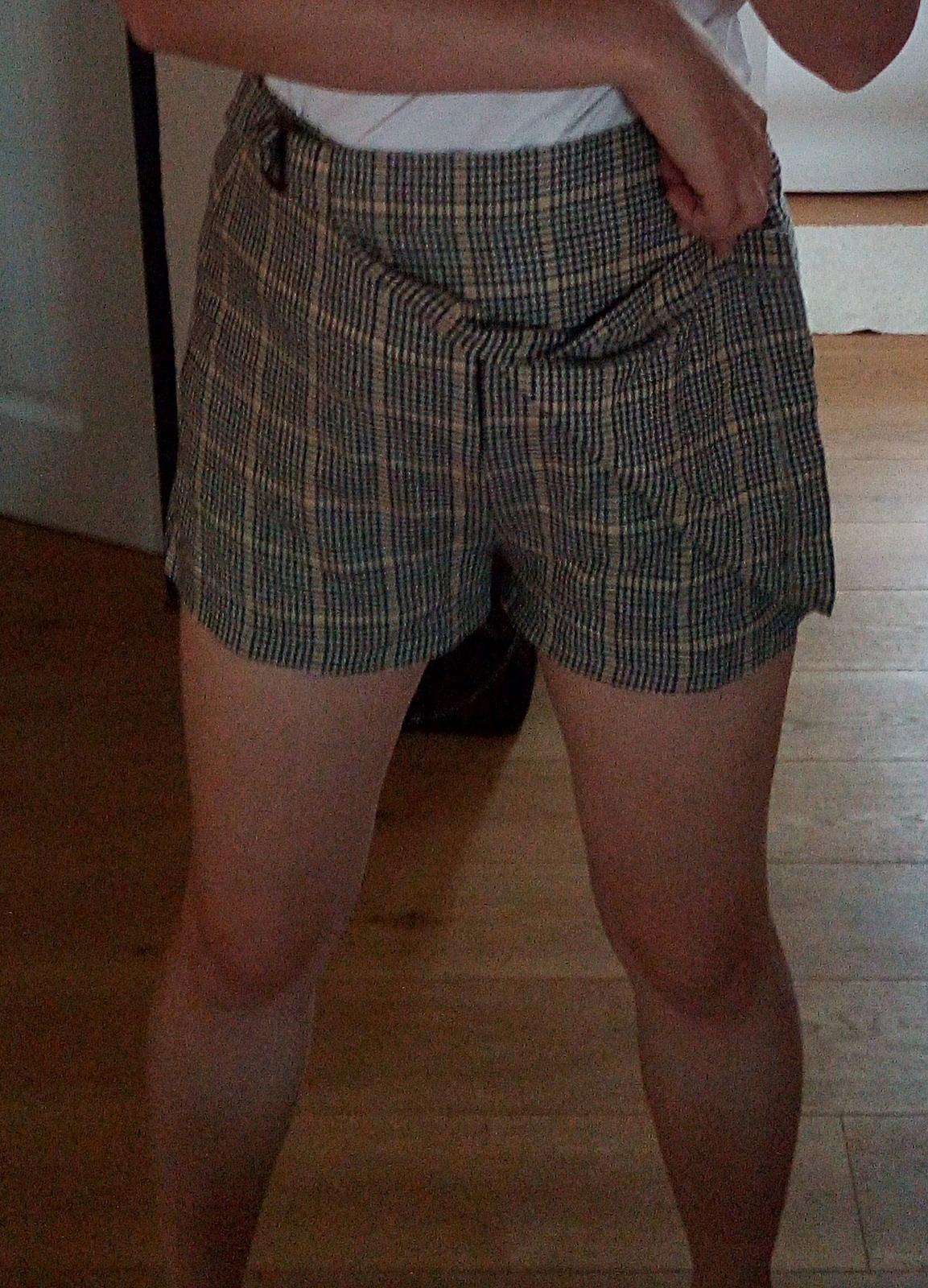 Kárované sukňošortky Terranova S - Obrázok č. 2