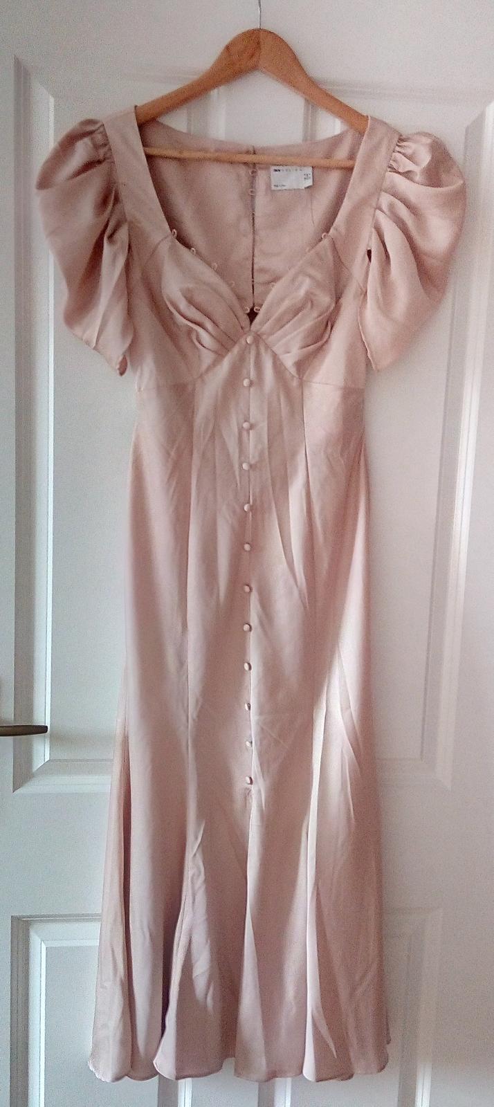 Púdrovoružové spoločenské šaty Asos S - Obrázok č. 1