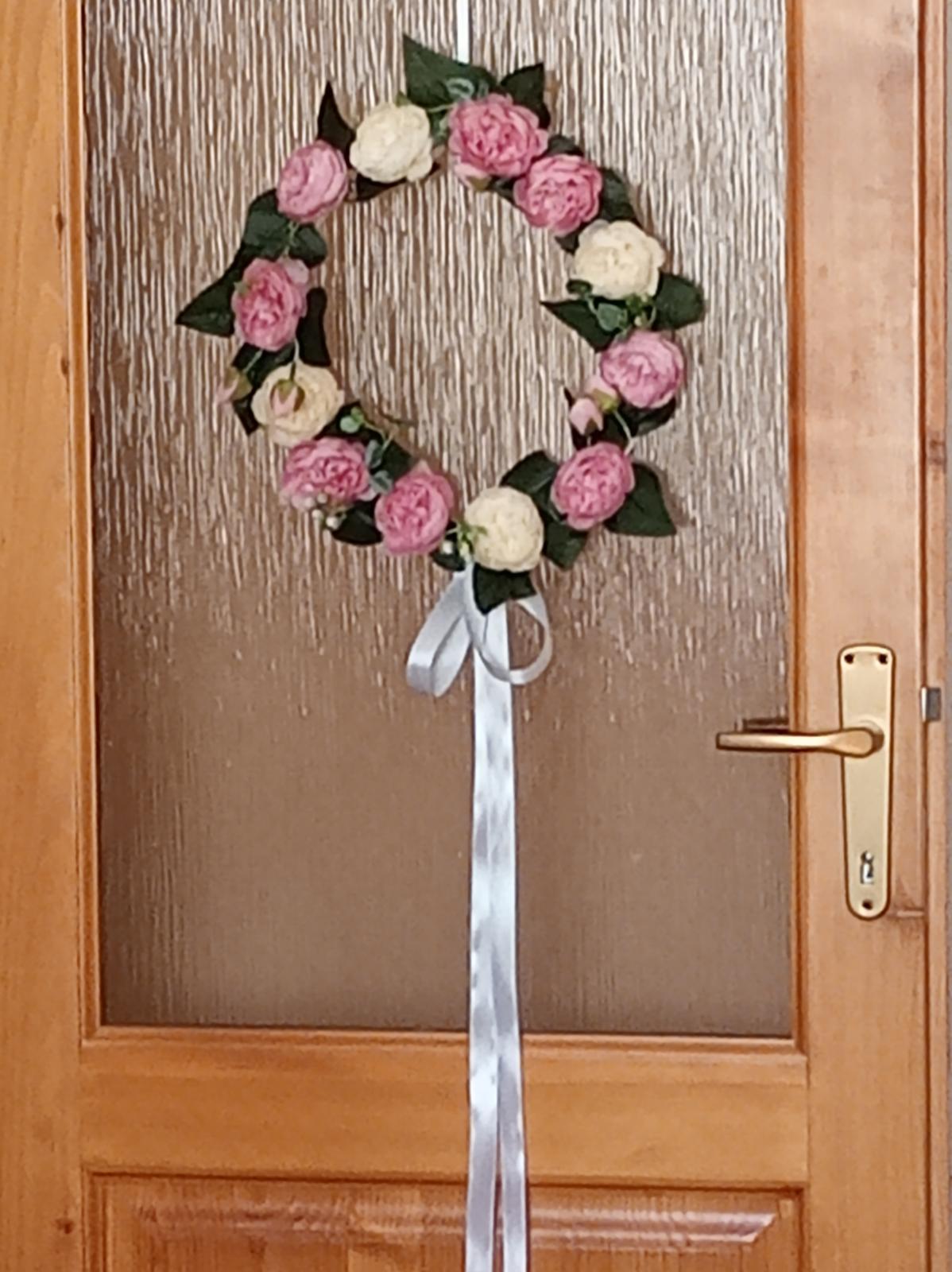 svadobný veniec na dvere - Obrázok č. 1