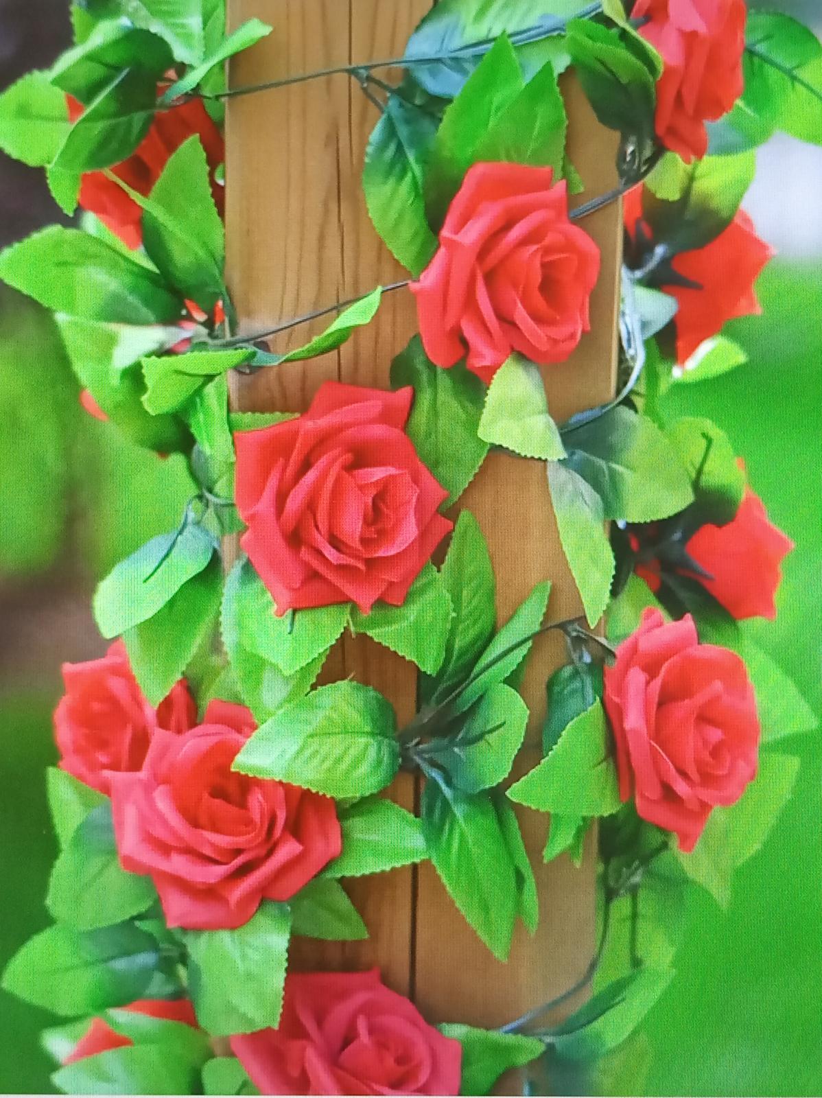 Girlanda červených ruží - Obrázok č. 1