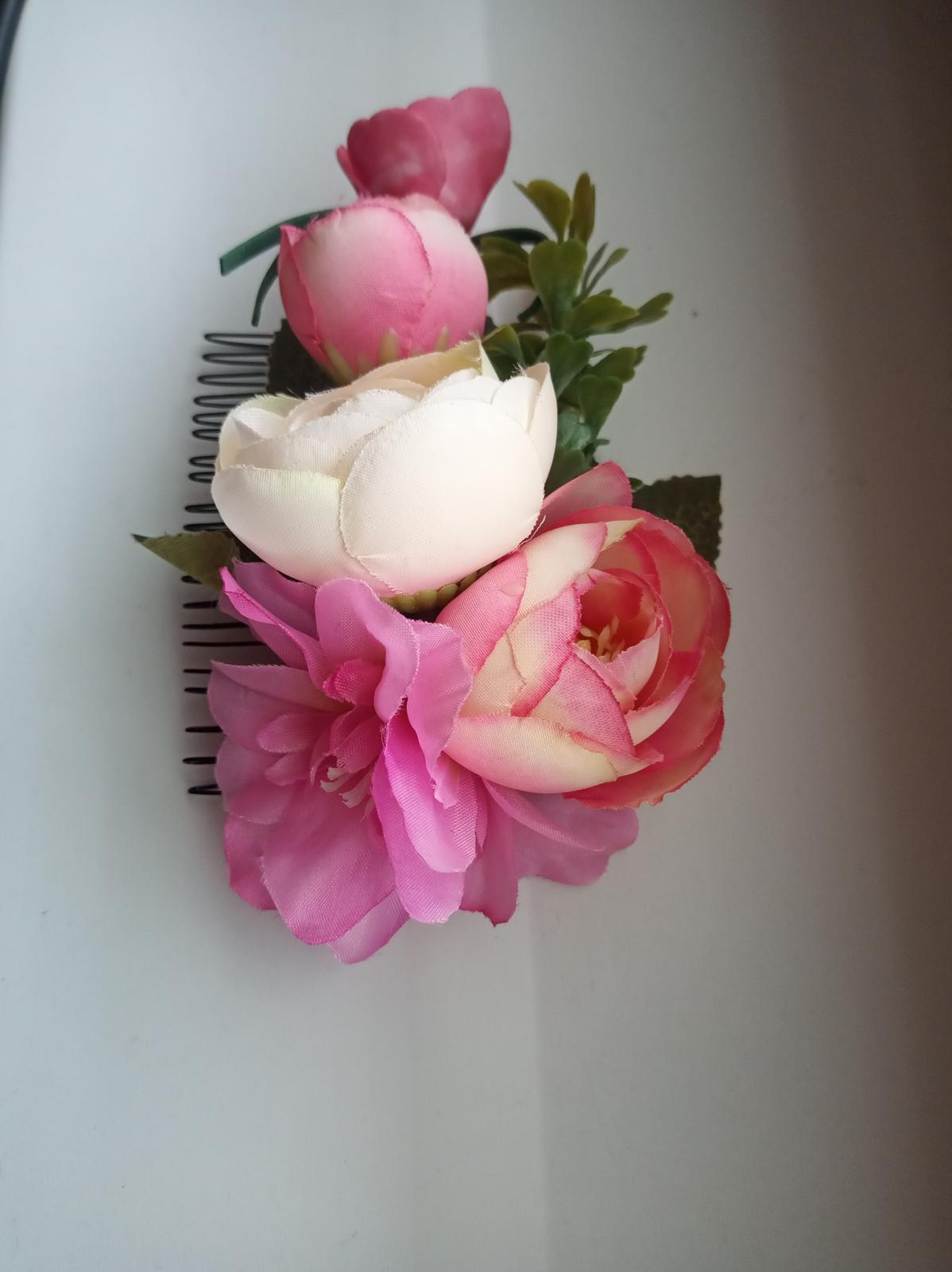 Hrebienok do vlasov s kvetmi - Obrázok č. 4