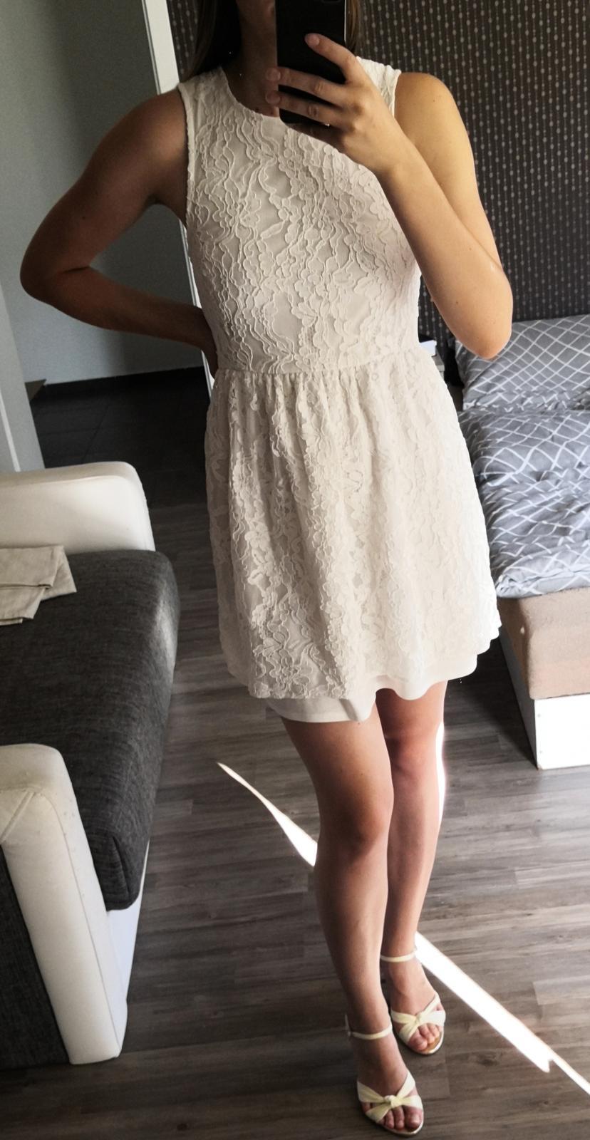 Krajkové krátké (popůlnoční) šaty - Obrázek č. 2