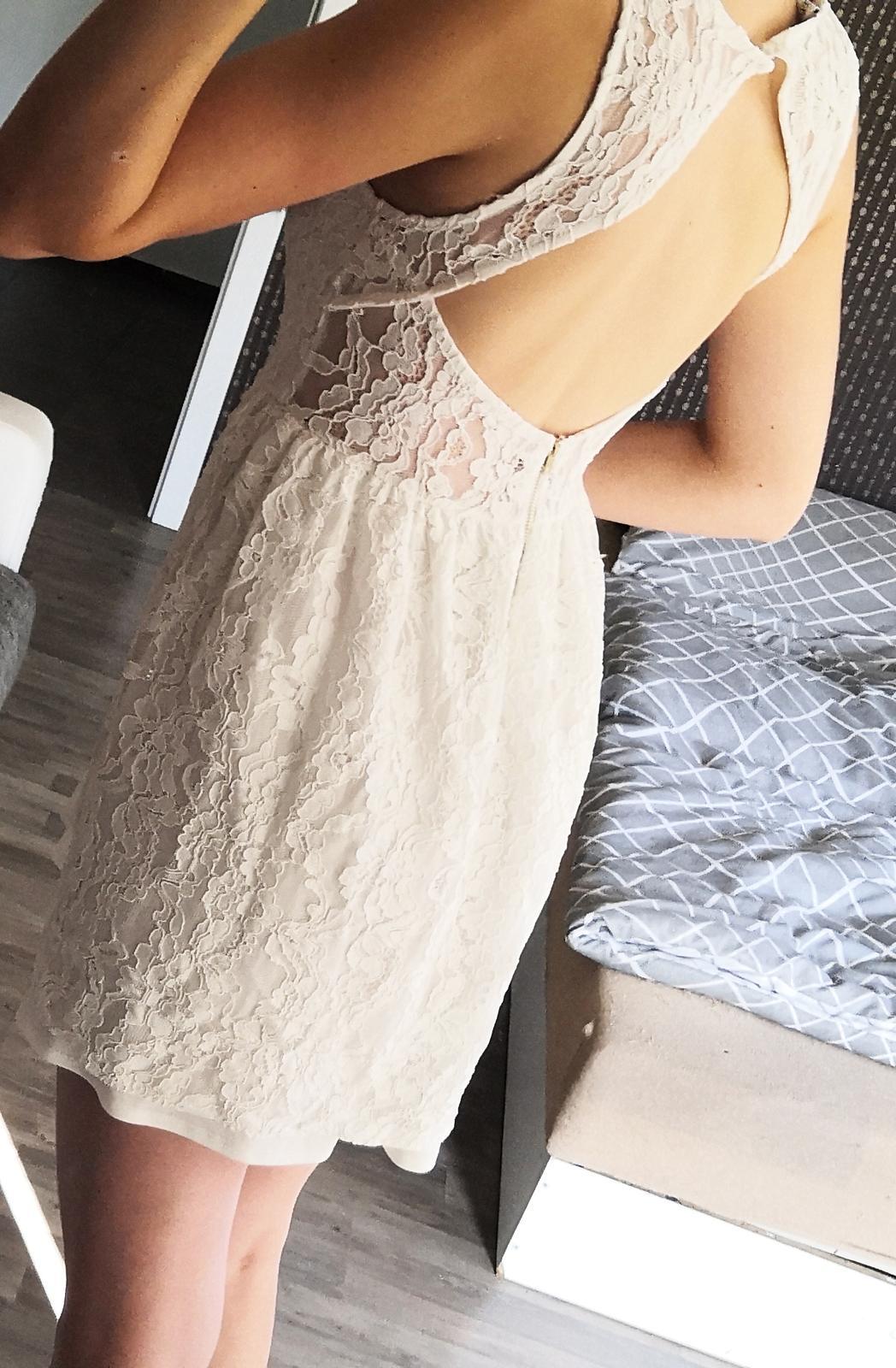 Krajkové krátké (popůlnoční) šaty - Obrázek č. 3