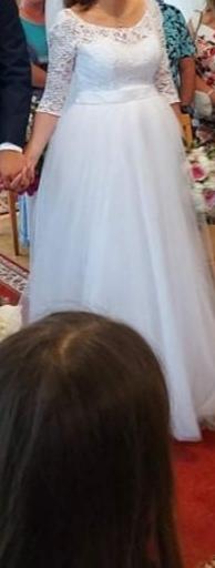 Predám svadobné šaty veľ S aj pre tehotné - Obrázok č. 2