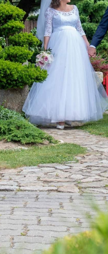 Predám svadobné šaty veľ S aj pre tehotné - Obrázok č. 3