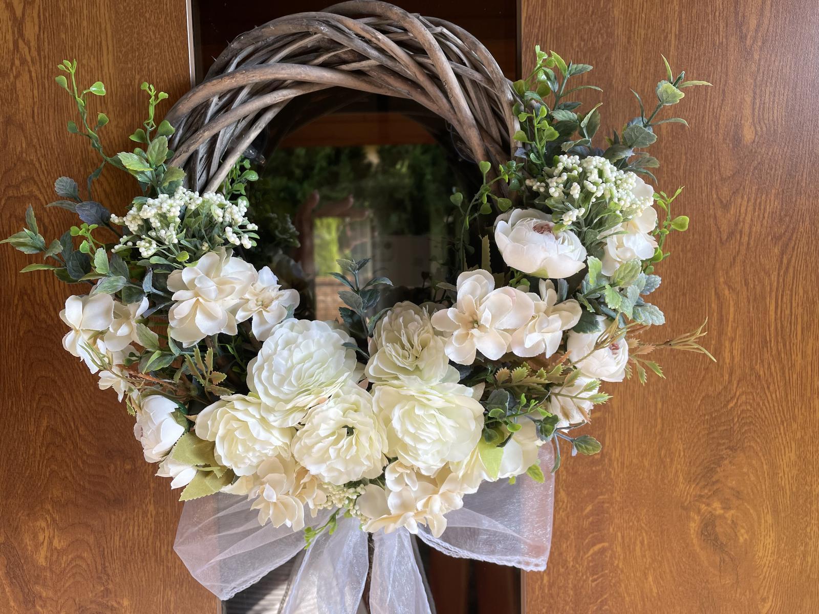 Veniec na dvere - svadobný - Obrázok č. 1