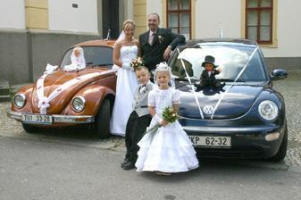 svatební vozítka jako z pohádky