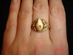 Můj netradiční zásnubní prstýnek..myslivecký :-)