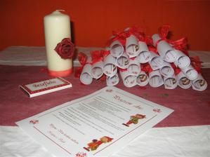svíčka,menu, program..děkuji Jani :-)