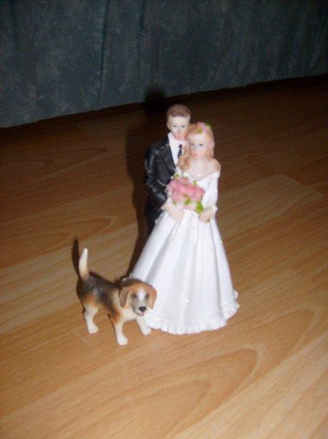 Figurka na dort, nevěsta je objednaná na barvu :)