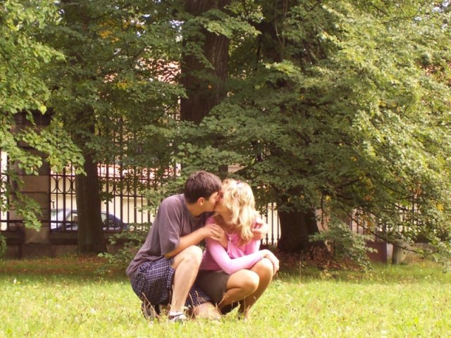 Kačenka a Zdenda (Brandejsovi) 7.7. 2007 - takhle se máme rádi
