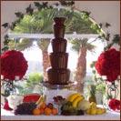 Kačenka a Zdenda (Brandejsovi) 7.7. 2007 - ze by prekvapeni pro svatební hosty...? čokoládová fontánka
