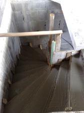 schody zabetónované