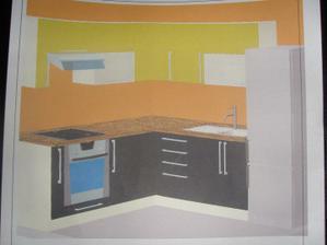 No takto bude vyzerať ta moja kuchyňa, ale ešte par zmien tam nastane.To je len taký predbežný nákres.