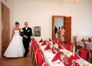 Svatební tabule na zámku v Kravařích